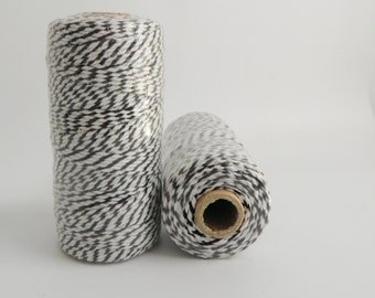 BLACK- Thick Bakers Twine (12 ply)- 100 yd spool- Packaging, Gift Wrap, Baking Parties