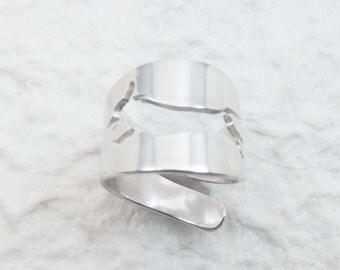 Doxie Silver Cuff Ring