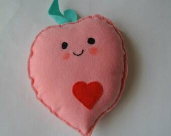 Felt Happy Peach Plush Toys/Decor - Kawaii Style!