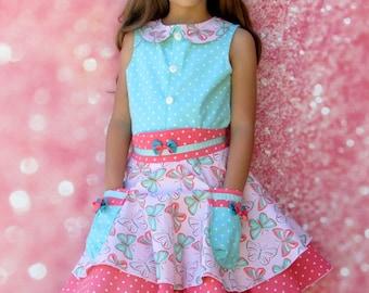 Girls Skirt and Top Set Butterflies-Size 2-10  Children's clothing girls dress