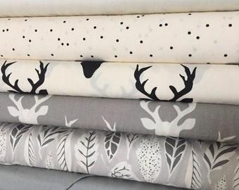 Half Yard Bundle, Winter White, Designed by Bonnie Christine, Art Gallery Fabrics, Quilting Cotton