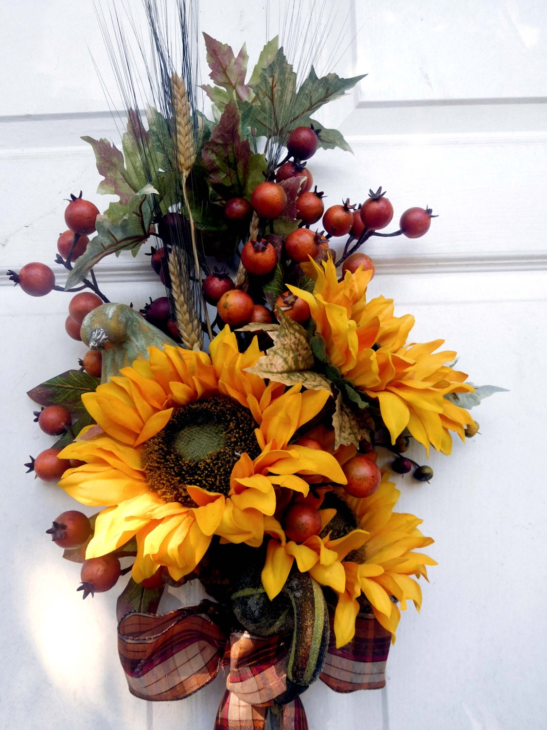 Fall Wreath Front Door Wreath Autumn Wreath Wreath