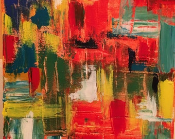 """abstract painting """"Happy Thoughts"""""""