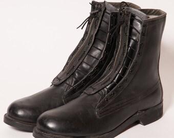 Men's Zip Up Jungle Boots Size 11 .5 D