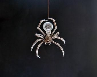 Hanging Watch Parts Spider Sculpture No 1 Recycled Clockwork Arachnid Figurine Stems Lightbulb Arthropod A Mechanical Mind Gershenson