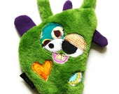 Medium Lightly Stuffed Durable Dog Toy with Heart Fortune & Squeaker - Bram Brambles by Fugly Friends