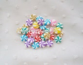 14pcs - Peppermint and Fruit Clay Rainbow Candies Decoden Cabochon (10mm) CLY10011
