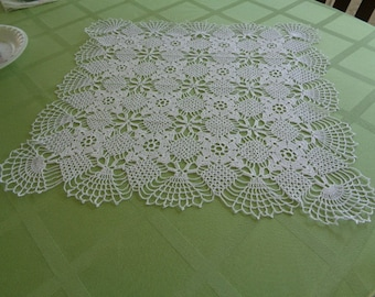 Fancy Square Crocheted Doily