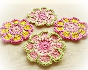 6 Enchantée Crochet Flowers-Softness
