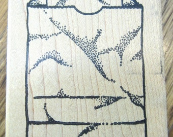 Anticipations 1993 Paper Bag Grocery Sack Wooden Rubber Stamp