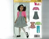 Girls Dress Bolero Jacket legging pants top Dress New Look 0959 6259 Kids! Sizes Little girls 3 4 5 6 7 8 Uncut Sewing Pattern OOP
