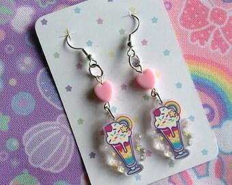 Rainbow Sundae Earrings
