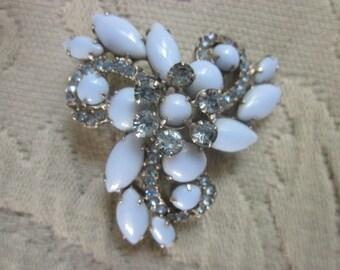 large rhinestone brooch, vintage brooch,gorgeous