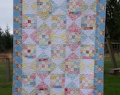 Quilts For Sale, Twin Quilt, Girl Quilt, Gift Quilt, Made in USA, Old Fashioned Quilt, Hill Farm Fabric, Busy Hands Quilts