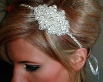 ON SALE Cinderella Rhinestone Headband- Wedding Headband, Bridal Accessories, Wedding, Bridal, Rhinestone Hair Piece, Accessories