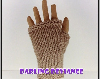 Fingerless Gloves - Taupe