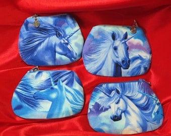 unicorn purse unicorns print coin purse -  limited edition - UK seller