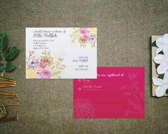 Dahlia - Bridal Shower Invitation