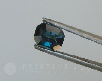 Blue Sapphire Emerald Cut Shape for Fine Gemstone Jewelry Ring or Engagement Ring September Birthstone Loose Gemstone