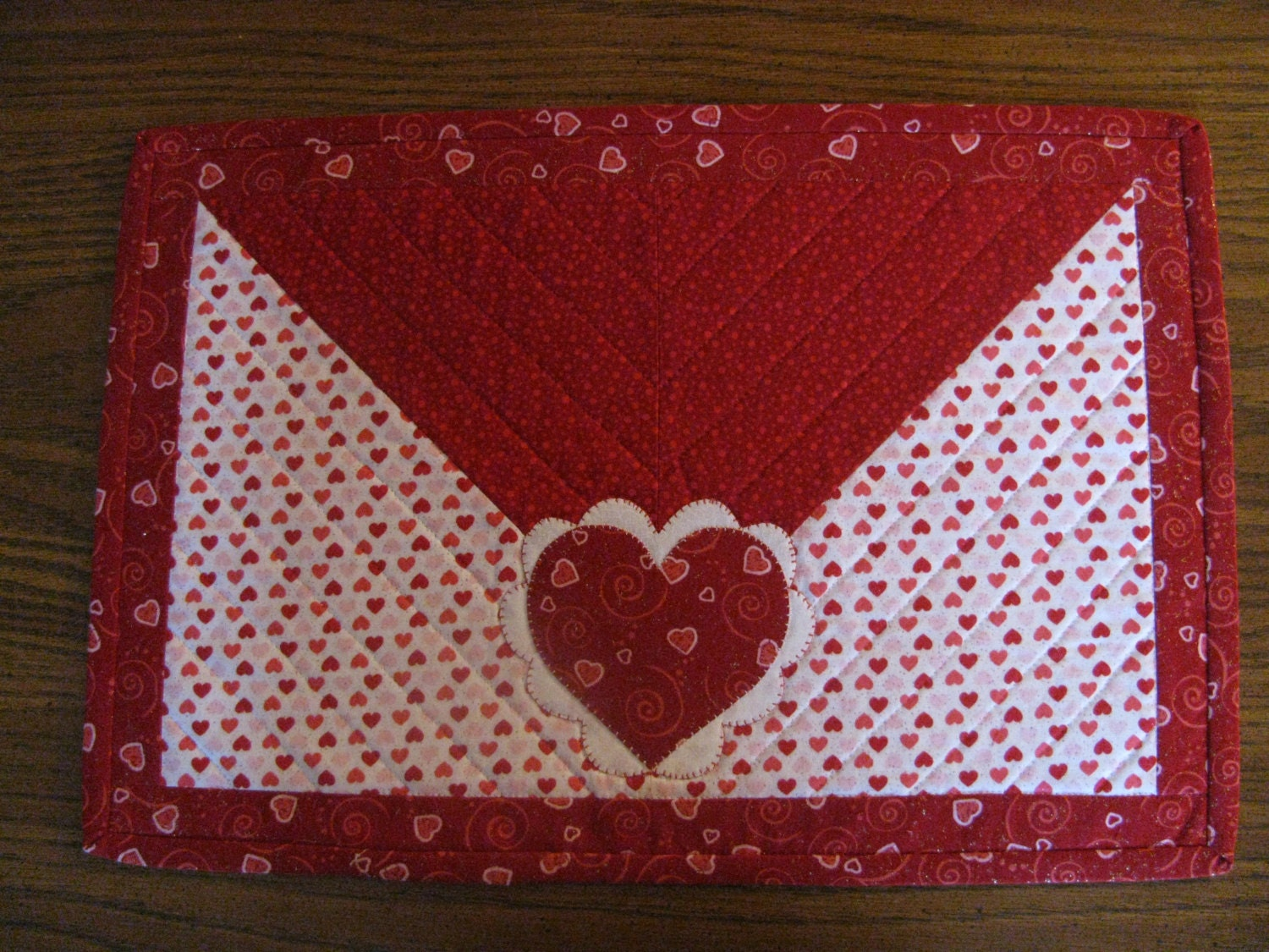 Envelope Themed Valentine S Placemats Set Of 4