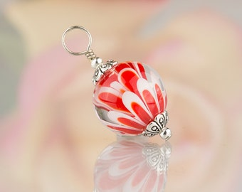 Red Lotus Flower Pendant