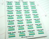 Wash Towels Planner Stickers