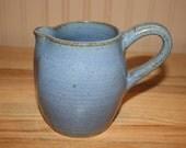 Blue handmade pitcher, juice pitcher, extra large milk pitcher, ice tea pitcher