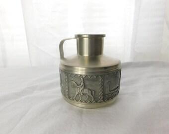 Vintage Snork Norsk Tinn Pewter Pitcher Vase BJ.H Norwegian Nordic Art   - Box R