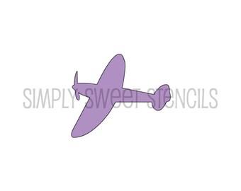 Airplane Stencil