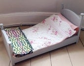 V I N T A G E  D O L L S  S L E I G H  B E D crib cot with handmade bedding