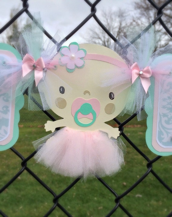 tutu banner tutu baby shower baby shower banner it 39 s a girl banner