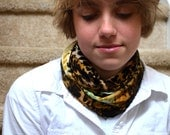 Leopard Print Infinity Scarf Lightweight Layering Fashion Scarf Womens Ascot Neck Warmer
