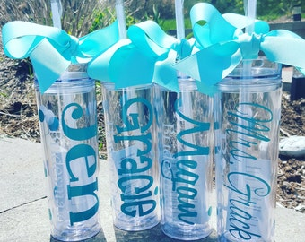 Wedding Tumblers, Bride, Wedding Cups, Bridesmaid gifts, Bridal Party Gifts,  Personalized Wedding Cups,