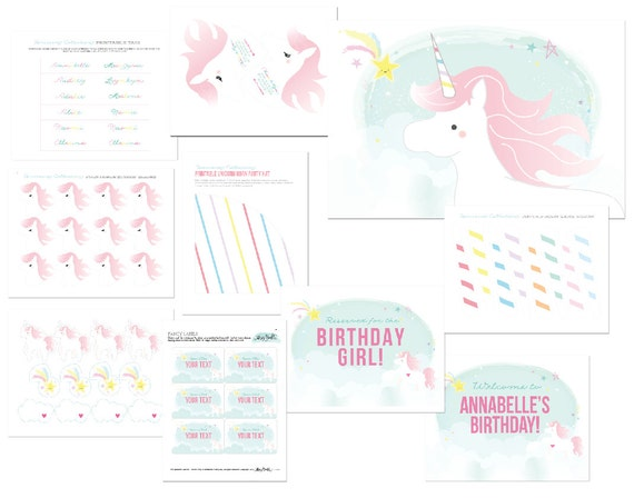 blacktwine itsybellestudio magical unicorn partyprintables