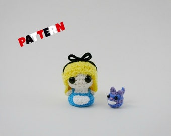 Crochet Amigurumi Pattern Alice in Wonderland Doll Alice Doll Toy Pattern