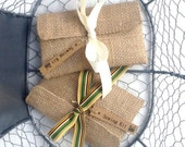 Burlap sewing kits with ribbon ties-Graduation gift, Party Favor, Hostess Gift, Teacher Gift ...