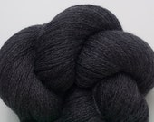 Gray Wool Yarn, Dark Gray Recycled Merino Lace Weight Yarn, 3143 Yards Available in 5 Skeins of Different Lengths, Charcoal Gray Merino