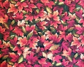Fall Fabric By The Yard RJR Fabrics Autumn Romance Collection Red Fall Autumn Leaves Quilting Sewing Crafting Fabric