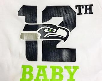 Seattle Seahawks 12th Baby Onesie - Handmade