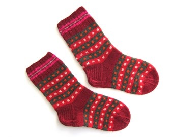 Dainty Dotted Socks handmade with wool. Size M.