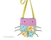 Small Purse - Gift for Girls - Toddler Cross Body Bag - Lavender Ladybug - First Birthday - Girls Handbag - Cute Purple Bug - Ready to Ship