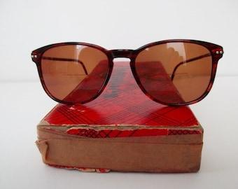 vintage Armani tortoise shell eyeglass frames- designer, glasses, made in Italy