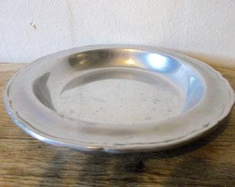 Vintage American Pewter Dish RWP Serving Bowl Wilton Pewter Centerpiece Dish