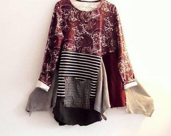 Sale 30% off Bohemian Patchwork Dress. Plus Size Ethical Fashion