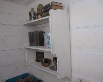 Early American Hanging Bookcase, Wall Shelf, Student Bookshelf, Primitive Storage Shelf