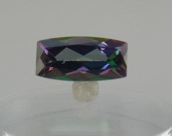 Purple /Green Mystic Topaz, Barrel Cut- 14x7x5- 4.45ct.