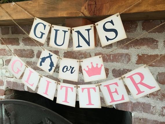 Mh Gun R 125 : gender reveal banner guns or glitter baby shower sign ~ Medecine-chirurgie-esthetiques.com Avis de Voitures