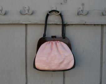 Charming pink and brown handbag