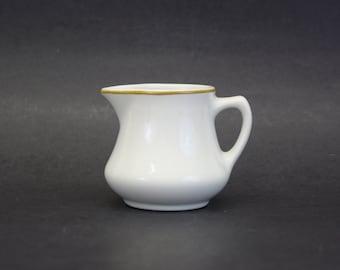 Vintage White Homer Laughlin Creamer Brown/Tan USA (E962)