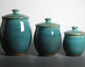 Reserved for maireadnagle  canister set in blue green